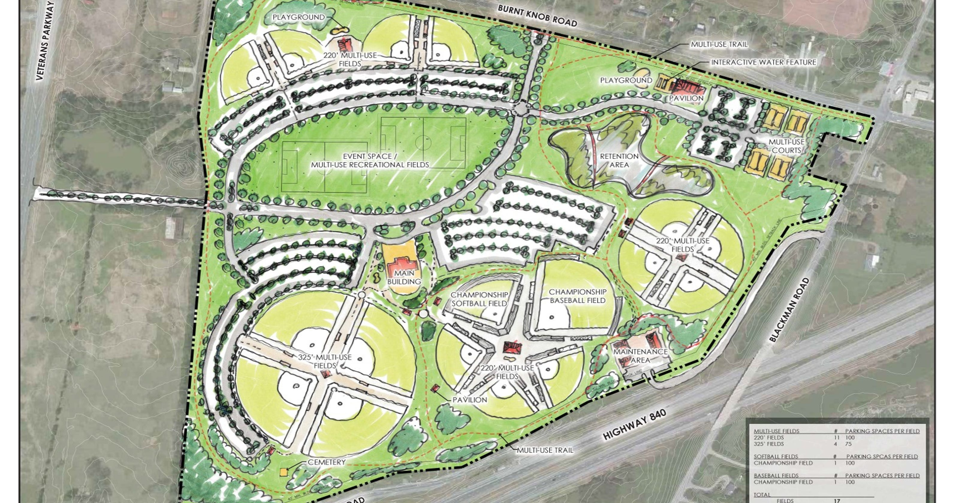 City presented 3 options for west park design malvernweather Choice Image