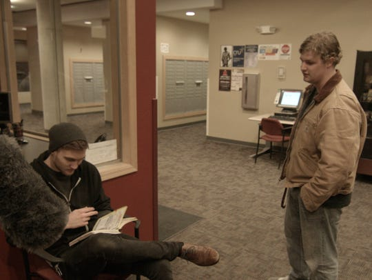 """A production shot from """"Shadow Farm"""" shows writer/director/star"""