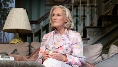 """This image released by Philip Rinaldi Publicity, Glenn Close appears in a scene from the new revival of """"A Delicate Balance,"""" in New York.  Close had been searching for a stage project since her show """"Damages"""" ended in 2012 and landed on Edward Albee's 1967 Pulitzer Prize winner, which examines the stresses and strains of family and friendship."""
