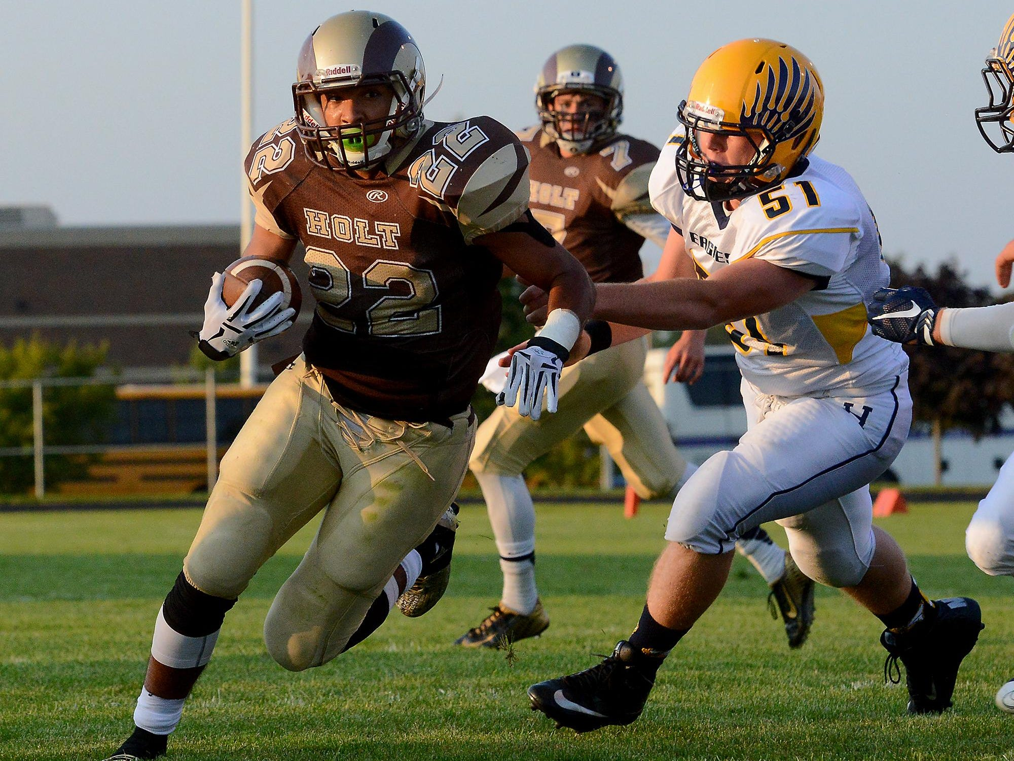 Holt's Trent Stone is one of the area's top rushers.