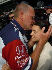 """She's no kid,"" team owner and late night legend David Letterman said of Patrick after she made history at the 2005 Indianapolis 500, becoming the first woman to ever lead the race."