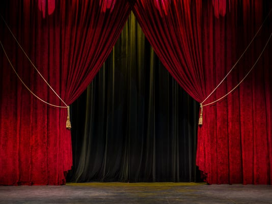 Red Theatre Curtain