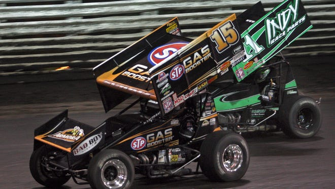 Lynton Jeffrey has constructed the wings for a vast array of sprint cars, including that of Knoxville Raceway legend Donny Schatz, pictured in the 15 car.