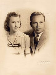 Charlotte and John Henderson, now 102 and 104 years