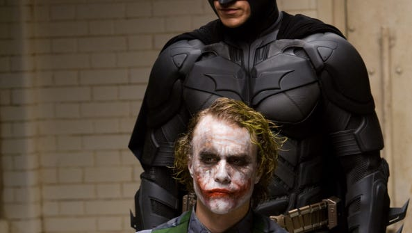 In this image released by Warner Bros., Heath Ledger
