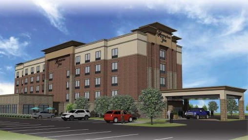 This rendering of a proposed Hampton Inn & Suites in Livonia is similar, but not identical to the hotel proposed in Genoa Township.