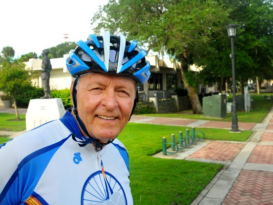 Joe Grinarml, retired NASA engineer, turns 80 on Friday and on Saturday is going to celebrate with 80 mile bicycle ride.