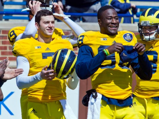 Michigan Spring Game Football
