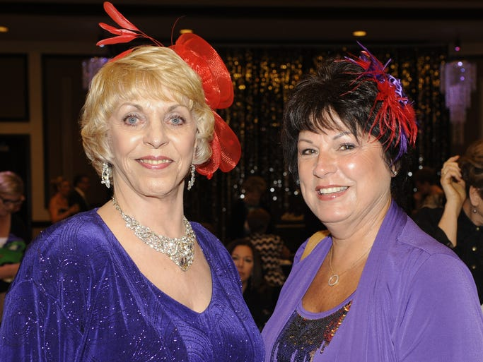 Sharine Drake, left, and Janice Roberts attend Old Treasures - New Futures, the Women & Children's Center of the Sierra fundraiser Thursday May 15, 2014 at the Atlantis.