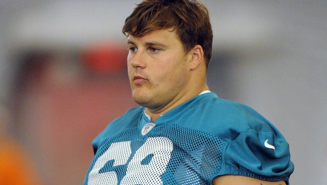 Richie Incognito at a Miami Dolphins practice in July 2012.