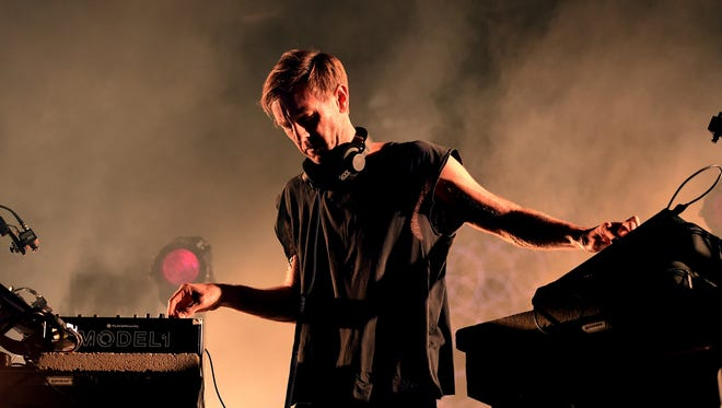 "Richie Hawtin performs his ""Close"" show at the first weekend of the Coachella Valley Music And Arts Festival (Weekend 1) at the Empire Polo Club on April 14, 2017 in Indio, Calif."