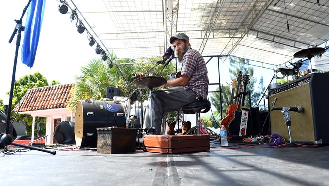 Ben Prestage performs Aug. 20, 2016 on the Terra Fermata stage during the 29th annual Dancin' in the Streets in downtown Stuart. Prestage and his brother will perform Saturday at Terra Fermata.