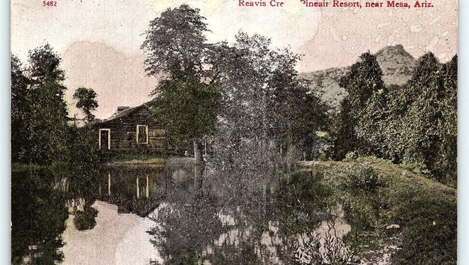 An undated faded postcard from about 1910 is one of only a handful of photographs depicting the isolated Pineair Resort.