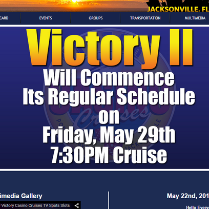 Victory Cruise ship has been moored until it fixes