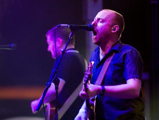 The Menzingers perform on the Second Avenue stage at