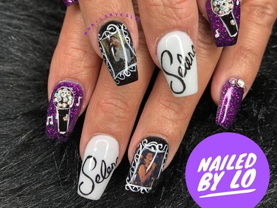 Selena-inspired nail art was created by Linh Odom,