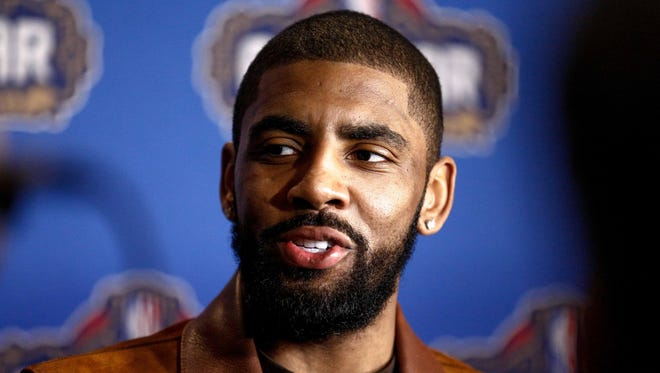 Kyrie Irving during the All Star media availability at the Ritz Carlton.