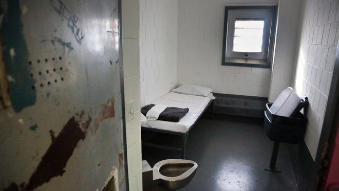 Solitary confinement at New York's Rikers Island.