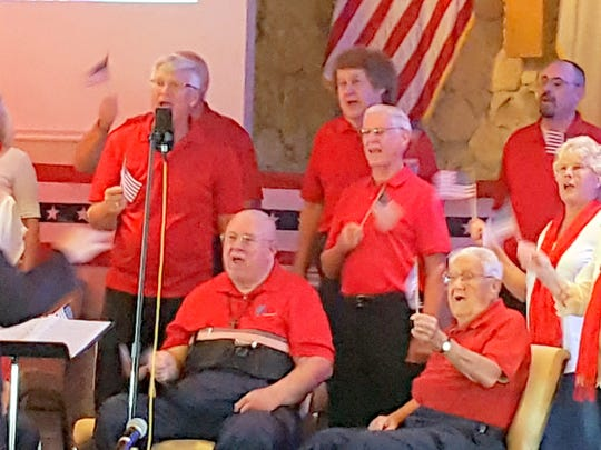 Members and visitors of Capri Christian Church were high on patriotism during a special music presentation of Stars and Stripes Forever by the CCC Celebration Choir in commemoration of the Fourth of July.