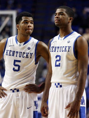 Kentucky guards Andrew Harrison and guard Aaron Harrison have grown up over the course of the season.