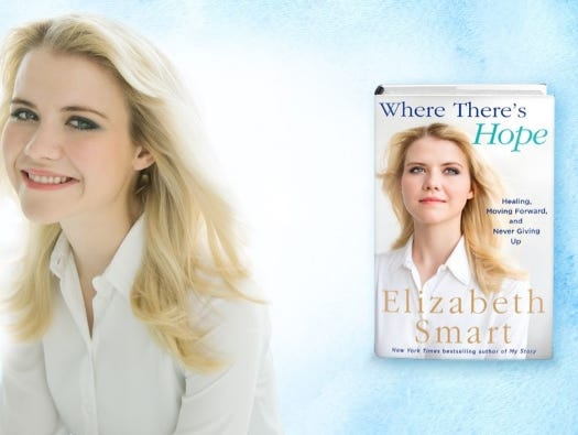 "Join us for a Facebook Live chat with Elizabeth Smart about her new book, ""Where There's Hope"". Tue 3/27, 1pm."