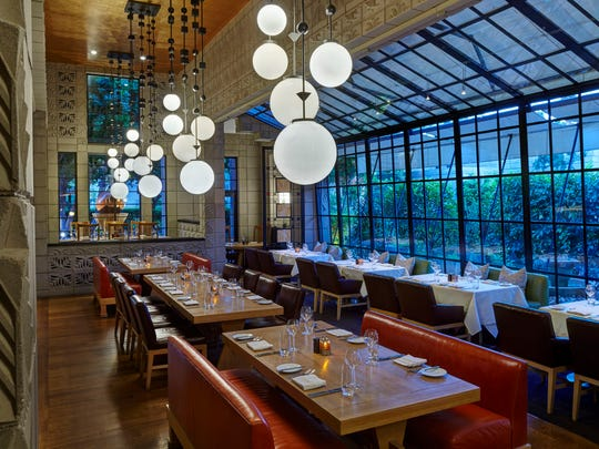 The dining room at Wright's at the Biltmore in Phoenix.