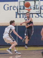Shippensburg's Cody Gustafson (10) makes a pass against