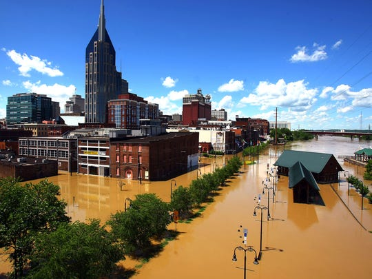 Plans for a $100 million downtown Nashville flood protection system were unveiled Wednesday, nearly five years after a devastating flood.