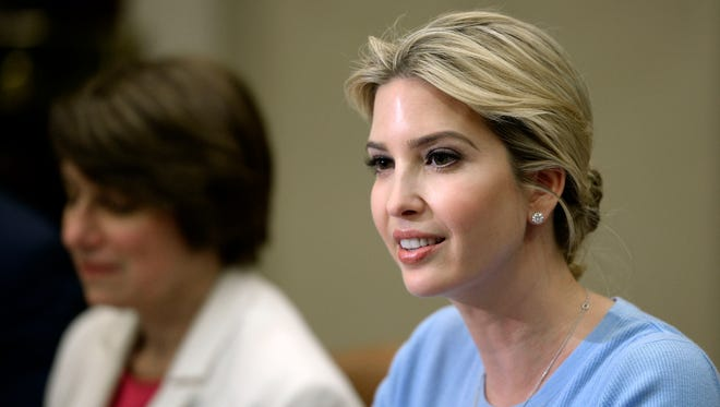 Ivanka Trump speaks at a Human Trafficking event in the Roosevelt Room of the White House on May 17, 2017 in Washington, DC..