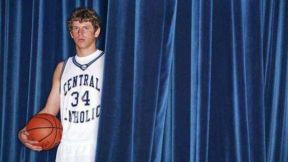 Will Hubertz of Central Catholic, the 2007 Journal & Courier small school boys basketball all-area player of the year in Lafayette on Thursday, March 22, 2007.