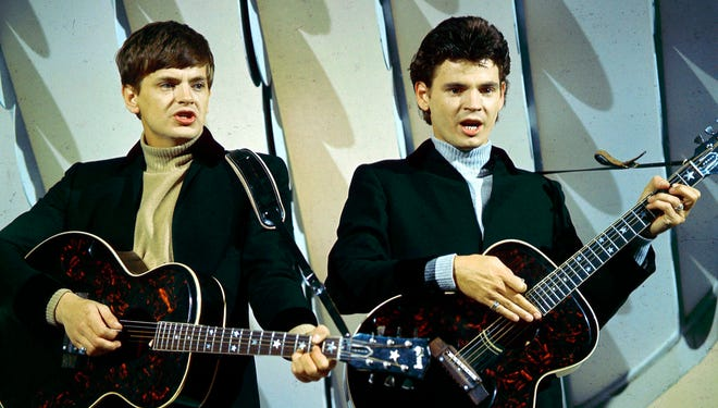 Musician Phil Everly, the younger half of The Everly Brothers, died on Jan. 3, 2014, in Burbank, Calif. The duo perform in the 1965 photo.