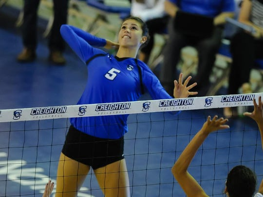 Former Ankeny Centennial star Jaali Winters rewrote the Creighton record book in her freshman season with the Bluejays. She established new marks for kills (546) and attack attempts (1,428) while posting 10 or more kills in 31 of 36 matches, including her final 19.
