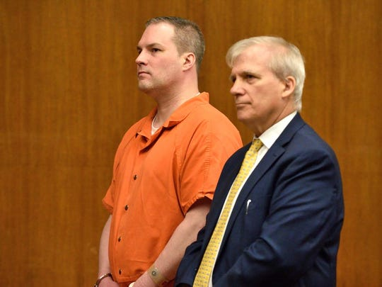 Daniel Rochat, left, in court on Monday, Aug. 22, 2016, with his attorney Richard G. Potter.