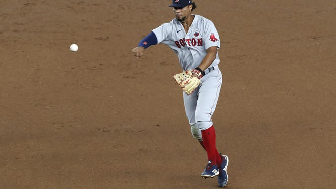Red Sox shortstop Xander Bogaerts is currently part of a struggling infield defense.