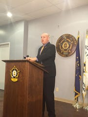Indianapolis Fraternal Order of Police President Rick Snyder spoke to the media about body cameras and other recommendations for the 2016 police budget Wednesday.
