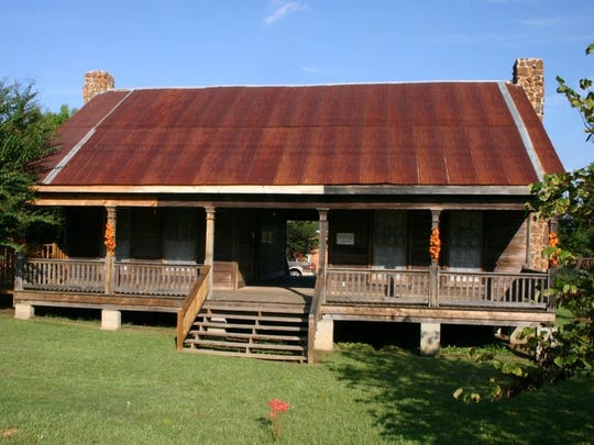 The Dubach Dogtrot, on Louisiana 167 in the center