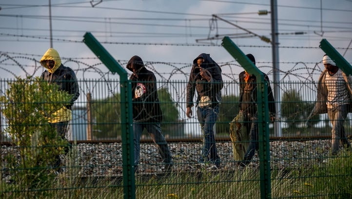 Migrants who successfully crossed the Eurotunnel terminal
