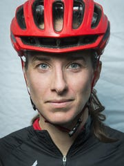 Lea Davison poses for a portrait at the conclusion of the Wednesday night mountain bike races held at Catamount Outdoor Family Center last week.