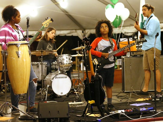 Marel Hildago & the Stone Feathers on stage at Monmouth County Fair, Freehold,NJ. Wednesday, July 26, 2017.  Noah K. Murray-Correspondent/Asbury Park Press ASB 0729 Marel Hidalgo