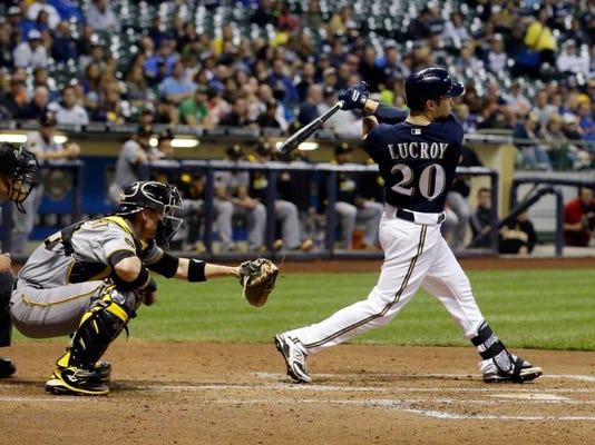 Pirates Brewers Baseball