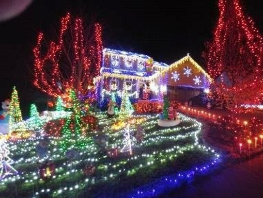The lights display at 5179 Christopher Drive, independence,