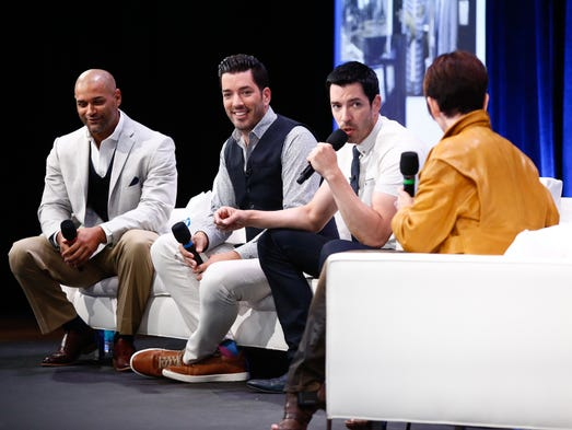 The Property Brothers, Jonathan, center left, and Drew