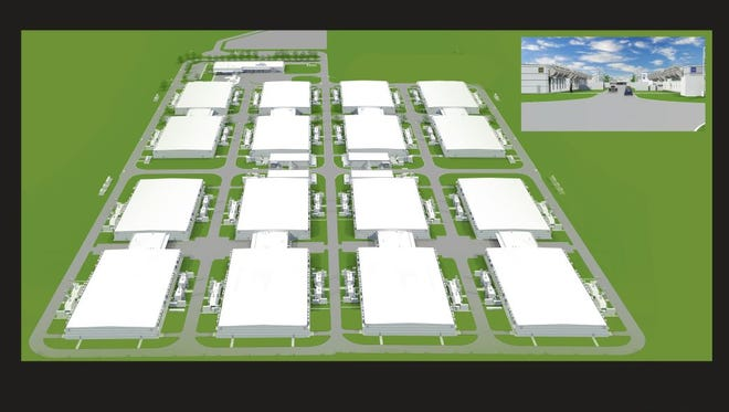 Microsoft's $1.1 billion data center will have 16 data server buildings on site. The tech giant is seeking approval to start the final two phases of construction.