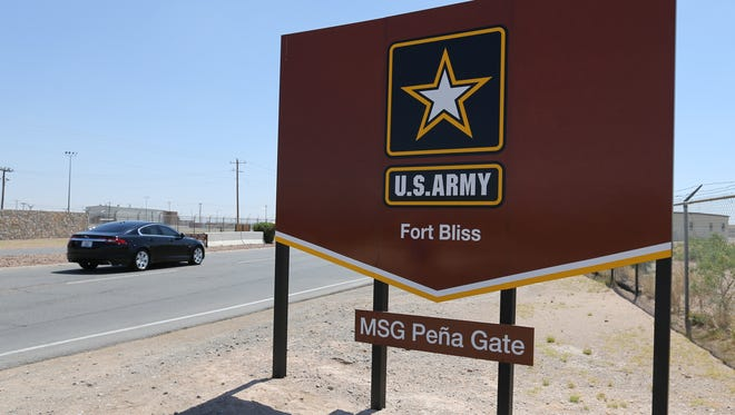 The Master Sgt. Pena Gate at Fort Bliss. The gate was the old Sergeants Major gate.