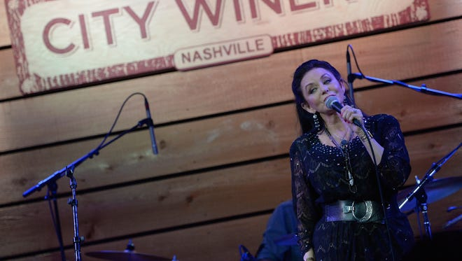 Crystal Gayle performs in 2015 in Nashville, Tennessee.