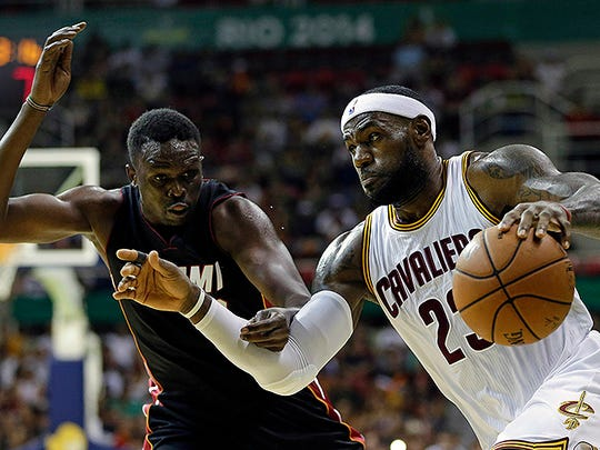 In this Oct. 11, 2014, file photo, Cleveland Cavaliers'