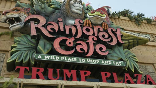 Rainforest Cafe in Atlantic City was one of the restaurants