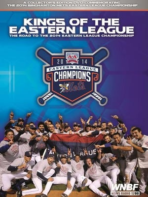 """The cover of the Binghamton Mets Eastern League championship commemorative DVD """"Kings of the Eastern League."""""""