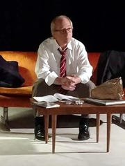 Actor Bob Weick portrays haiku poet Nick Virgilio during March filming of the play 'Nick of Time . . . Nick of Time.'