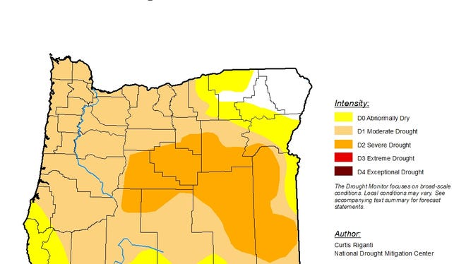 Eighty percent of Oregon is now in drought, according to the US Drought Monitor.
